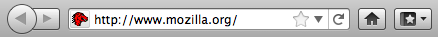 Address bar containing http://www.mozilla.org/